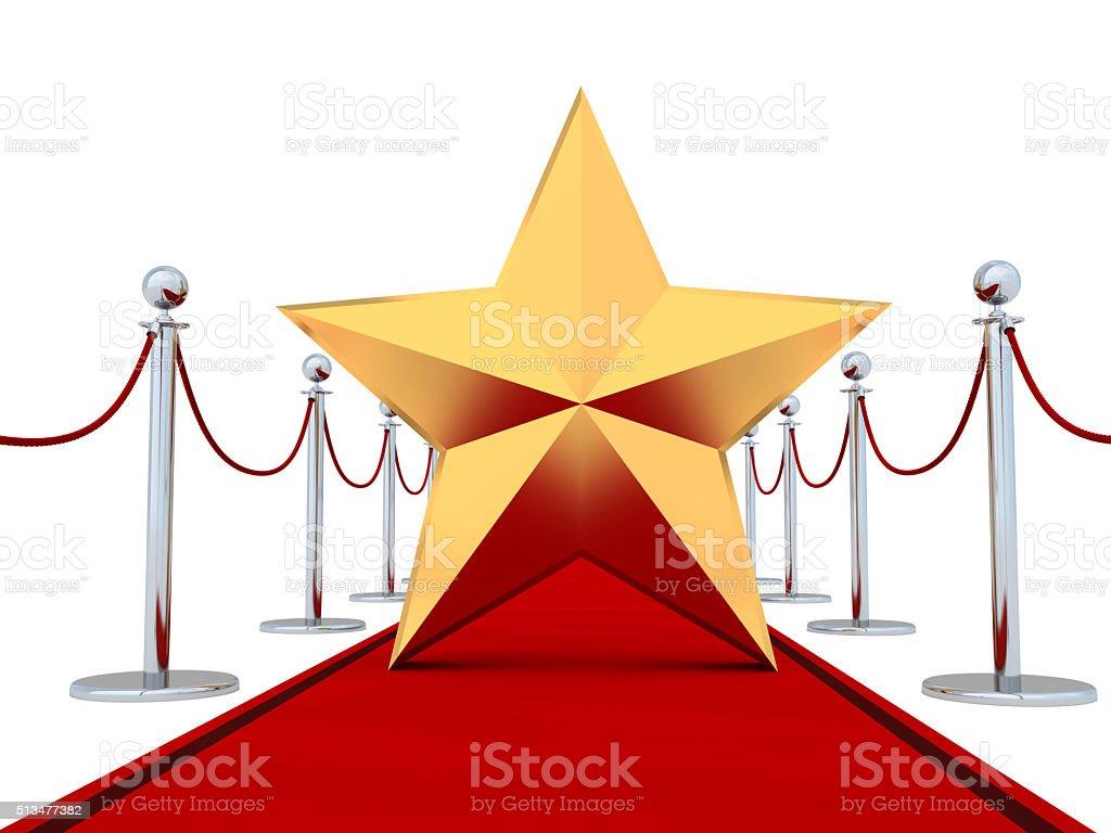 Sul rosso tappeto VIP - foto stock