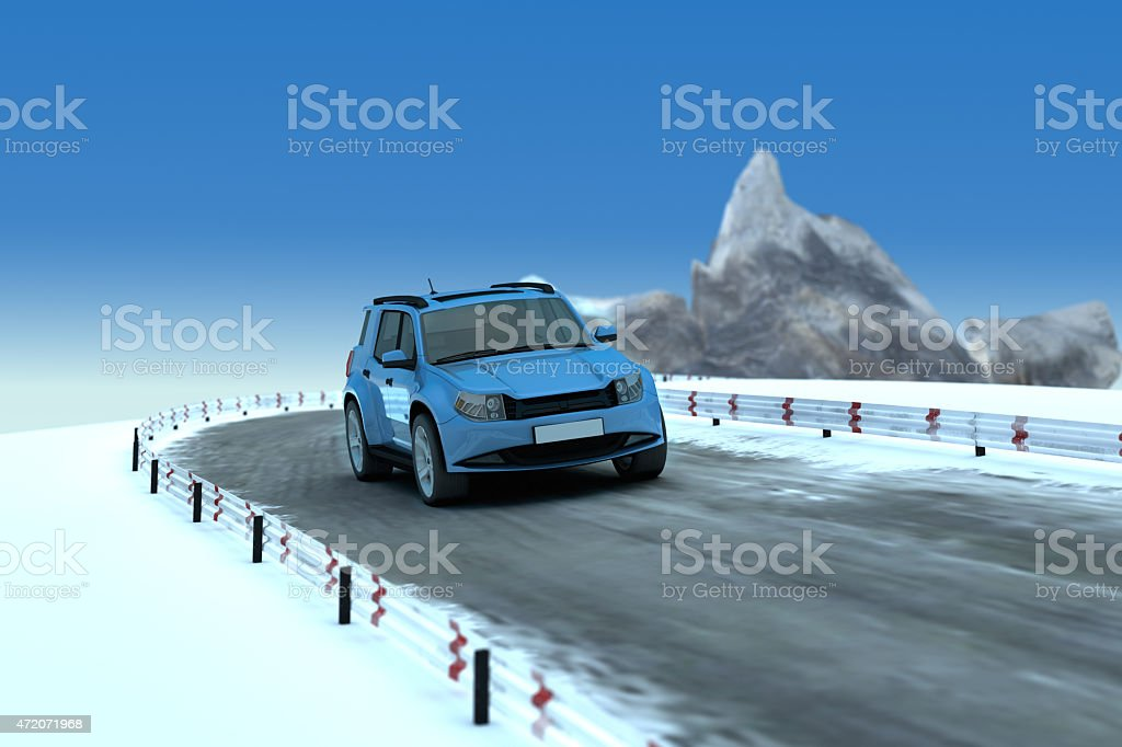 SUV on Road stock photo