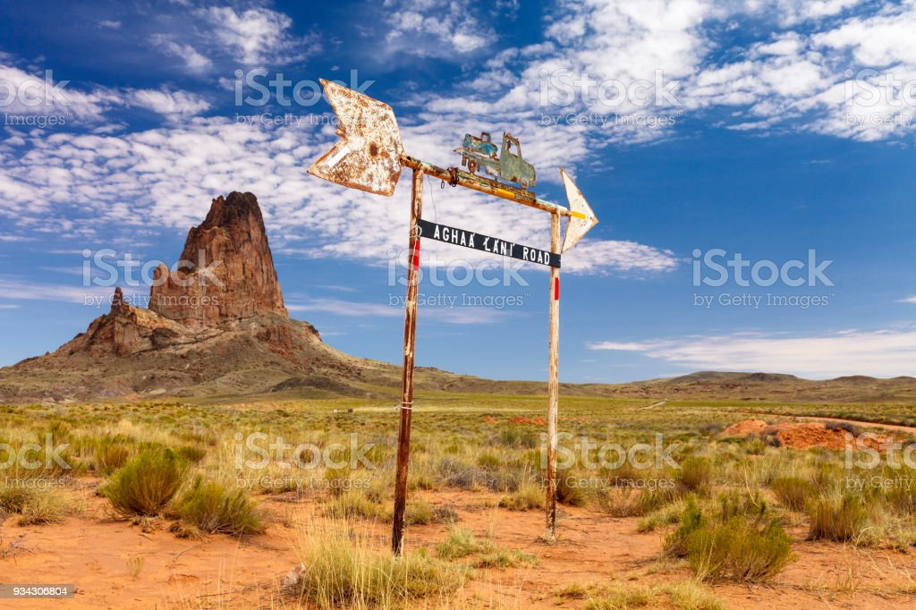 On Road To Monument Valley Navajo Tribal Park stock photo