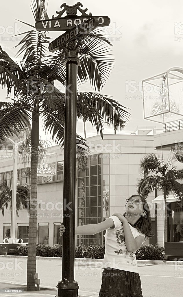On Rodeo Drive royalty-free stock photo