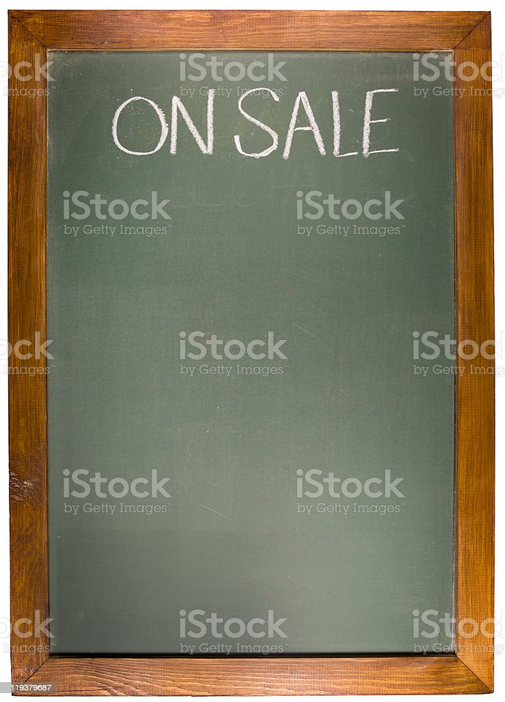 On sale Copy space green Chalk Board royalty-free stock photo