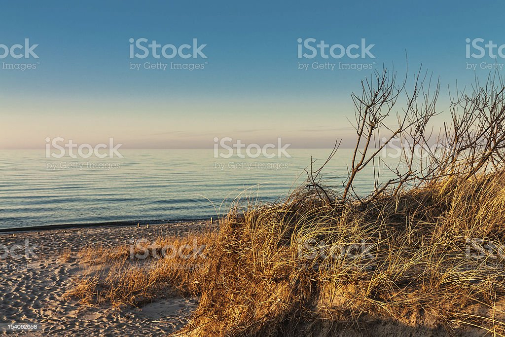 On shore On shore of the Baltic Sea in Germany. Baltic Sea Stock Photo