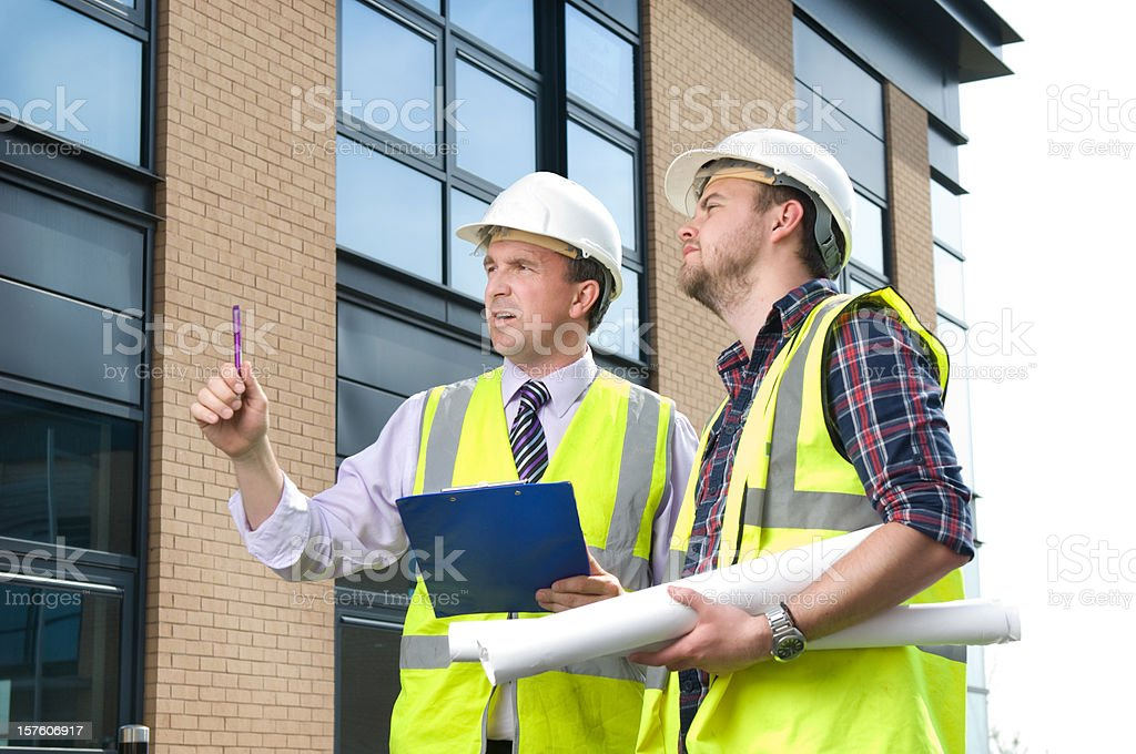 on site contractors royalty-free stock photo
