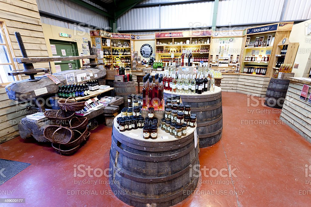 On site wine shop royalty-free stock photo
