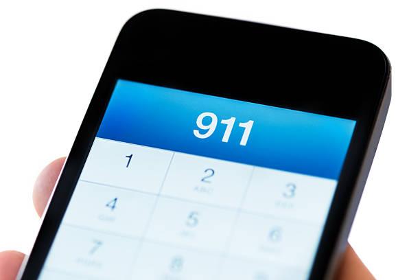 911 auf Smart Phone – Foto