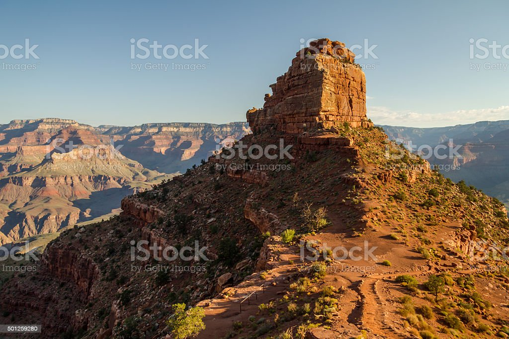 On south kaibab trail in the morning, Grand Canyon, USA stock photo