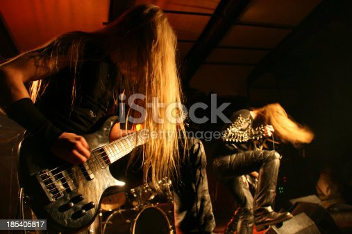 Black metal band on stage