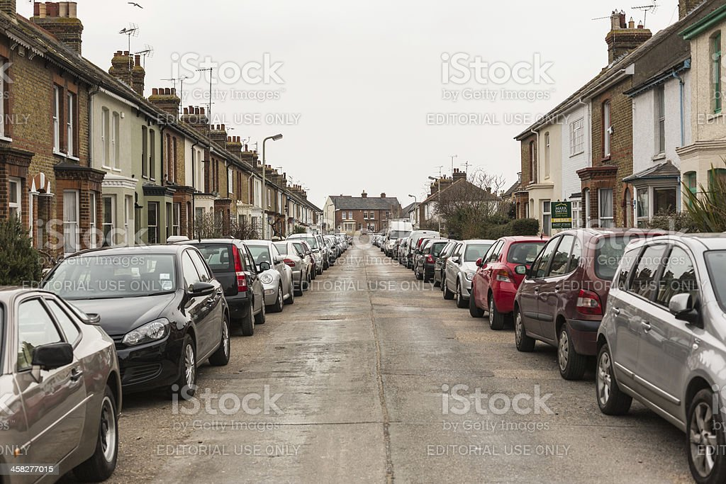 On Street parking stock photo