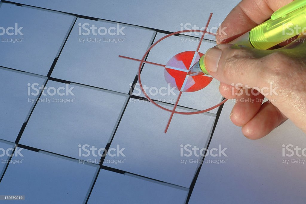 On target royalty-free stock photo