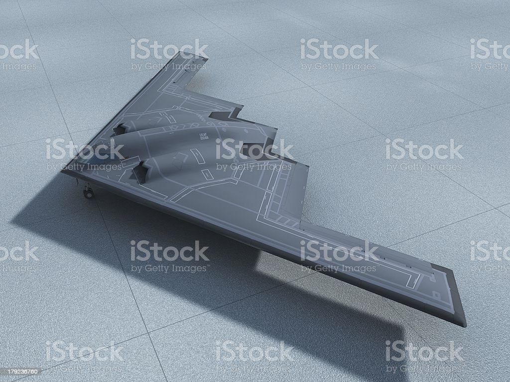 B-2 on Tarmac stock photo