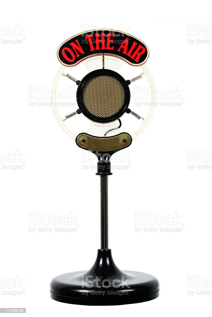 On the air Microphone royalty-free stock photo
