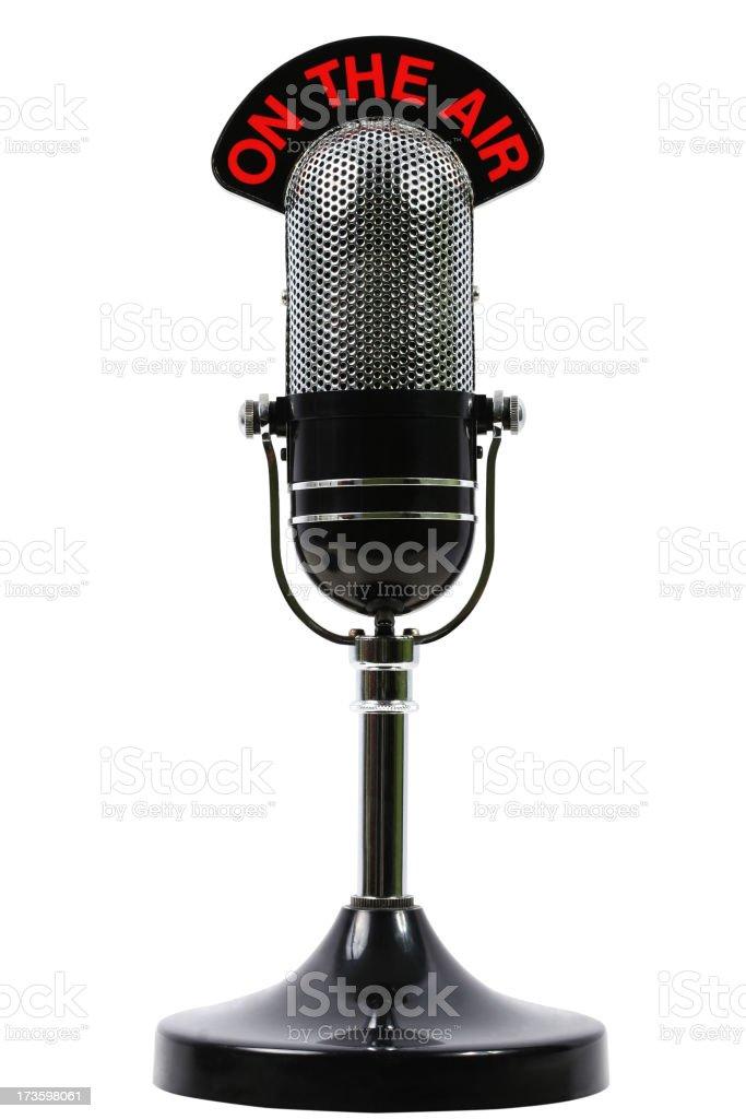 No ar microfone - foto de acervo