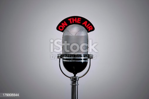 On The Air Microphone Stock Photo & More Pictures of Announcement Message