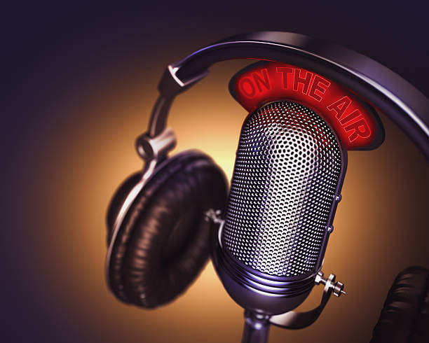 on the air - radio station stock photos and pictures
