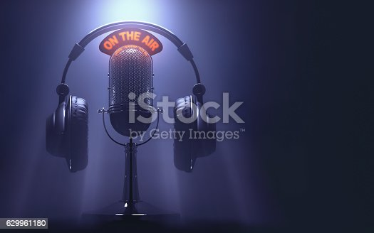 Headset on the microphone with the