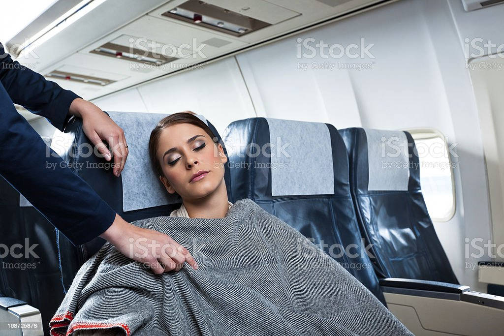 On the airplane stock photo