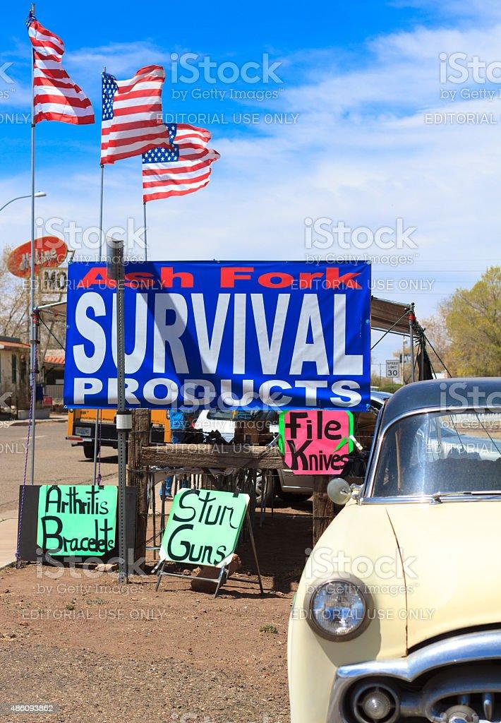 On the Arizona Border: Survival Products (Knives, Stun Guns, Etc) stock photo