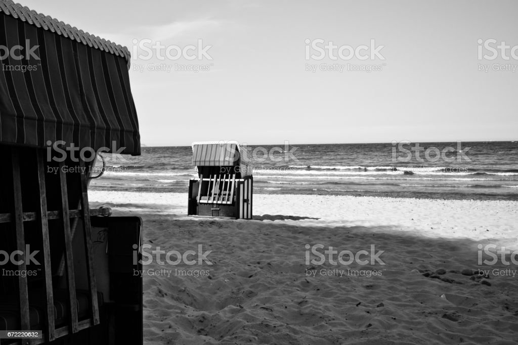 On the beach. Great time on Rügen, Chalk Cliffs, Beaches, Coast and bathing resort Binz. stock photo