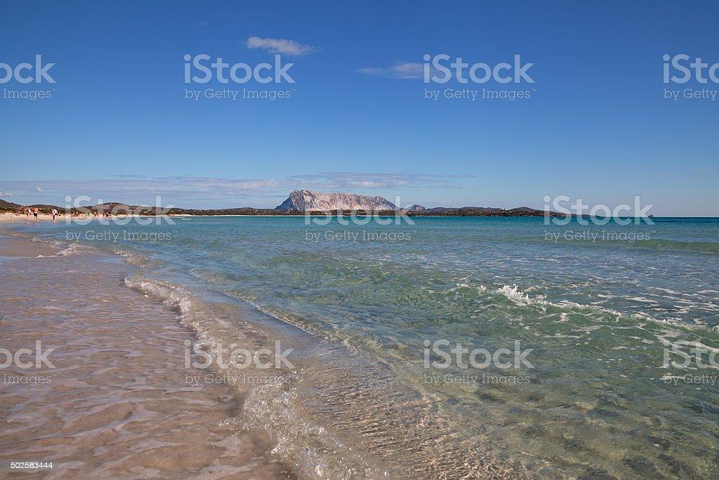 On the beach of La Cinta. stock photo