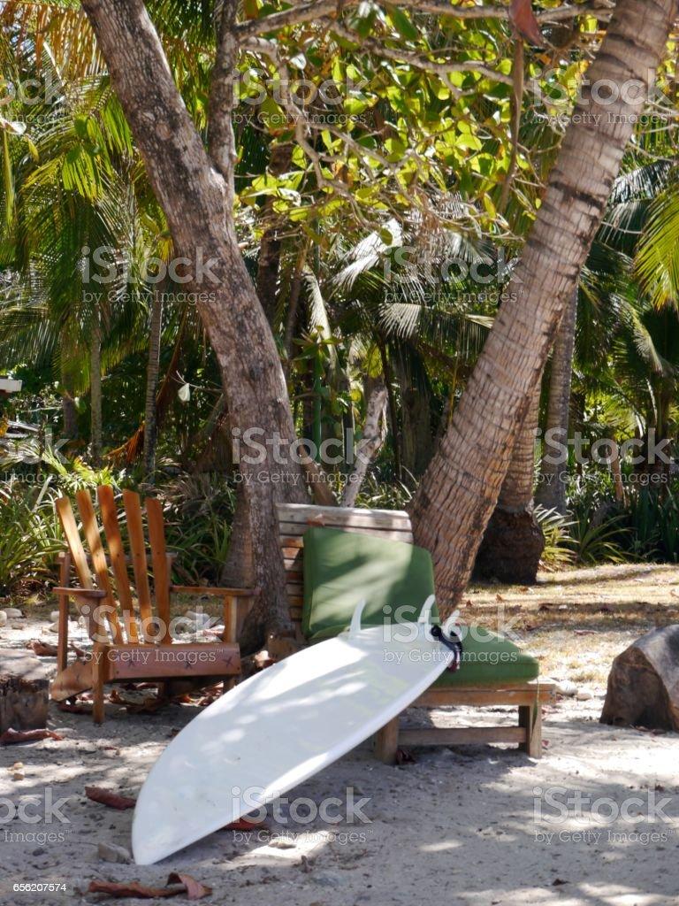 On the beach of Santa Teresa, Costa Rica. stock photo