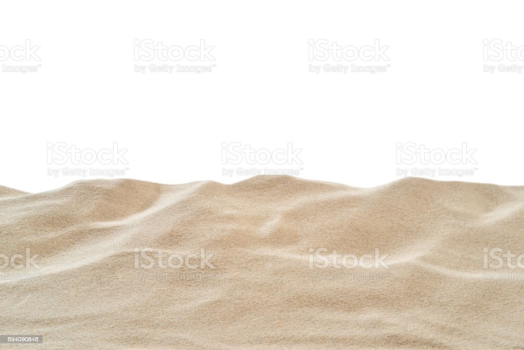 On the Beach - Sand dune in front of a white background - clipping path included stock photo