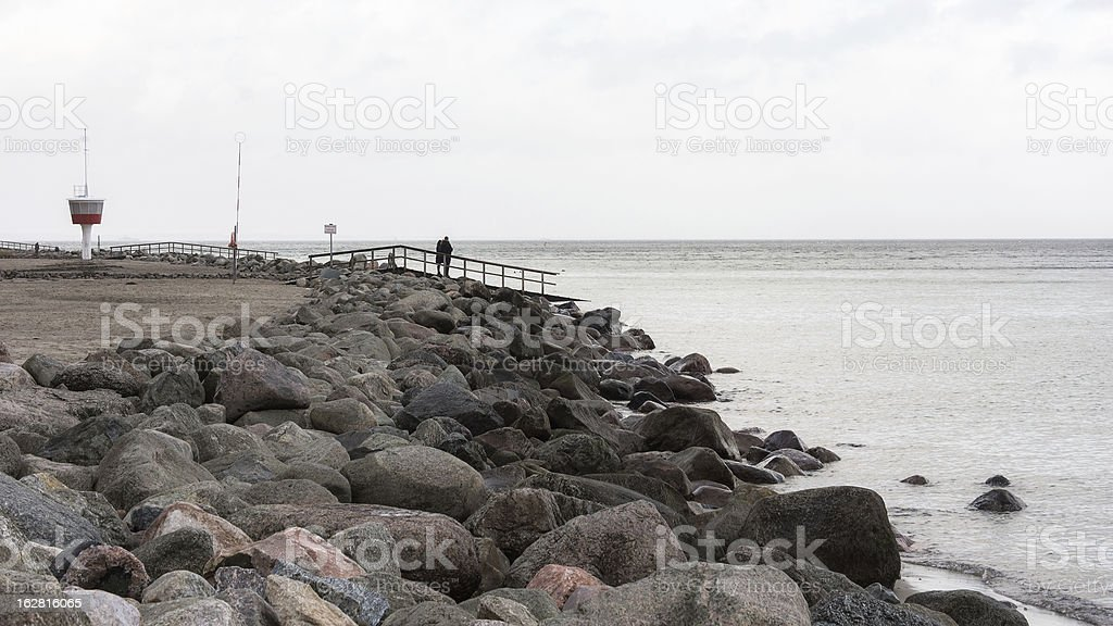 on the Beach, Travemuende, Germany stock photo