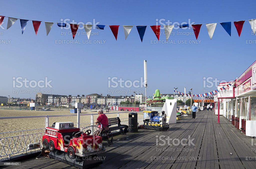 On the Britannia Pier in Great Yarmouth stock photo
