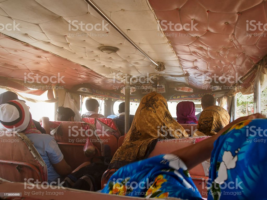 On the bus to nowhere royalty-free stock photo