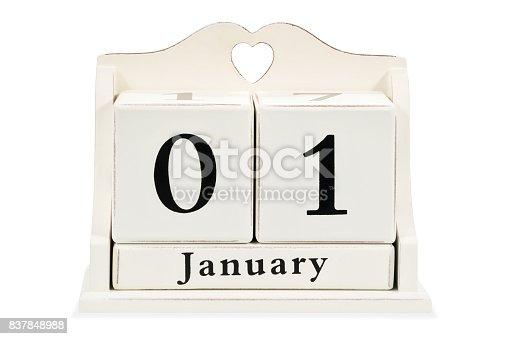 istock On the calendar January 1 837848988
