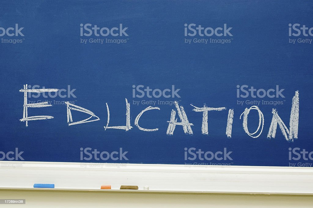 on the chalkboard royalty-free stock photo