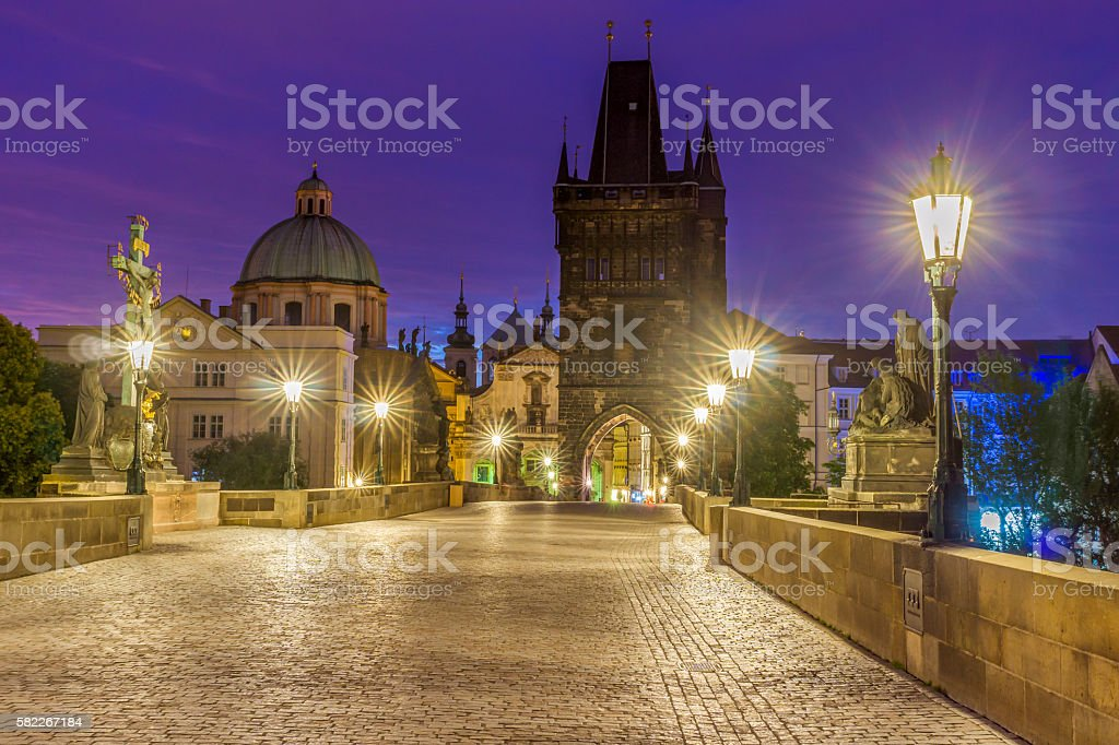 On the Charles Bridge stock photo