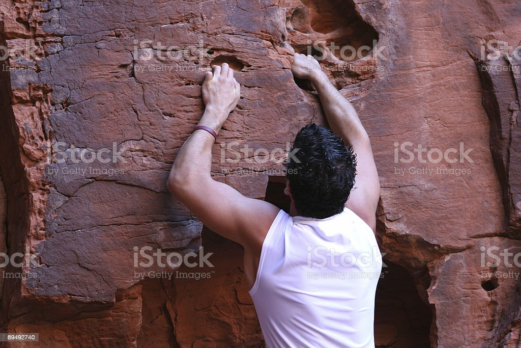 On the Climb (Utah RedRockalypse) royalty-free stock photo