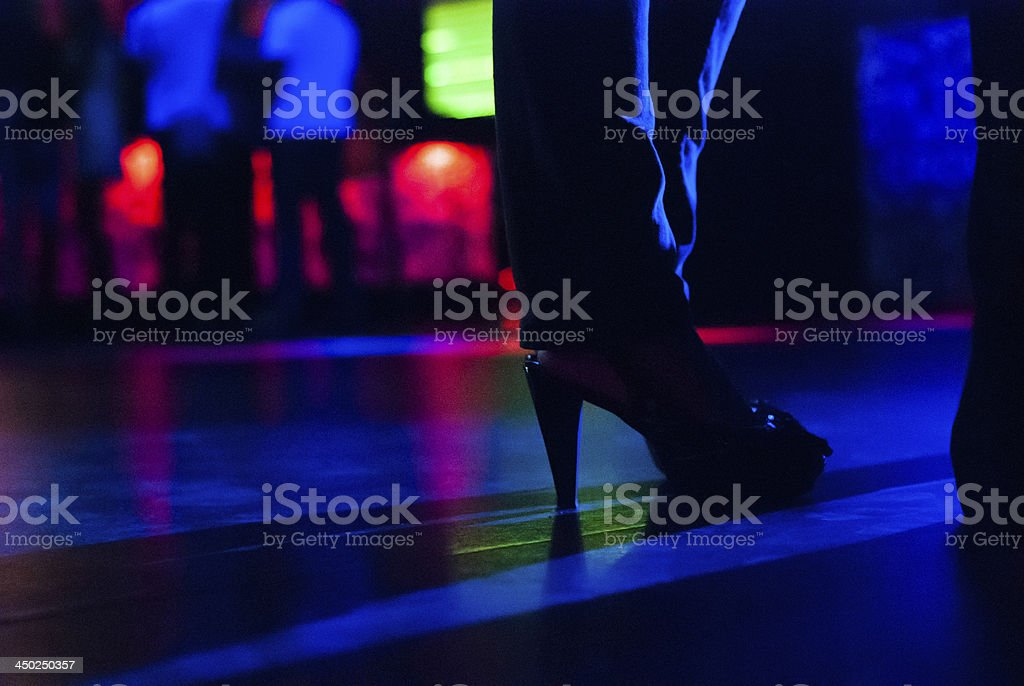 on the dance floor stock photo
