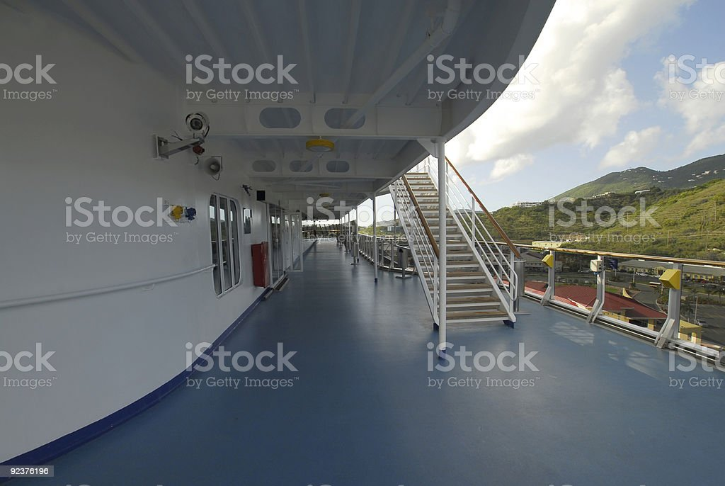 On the deck of a cruise ship royalty-free stock photo
