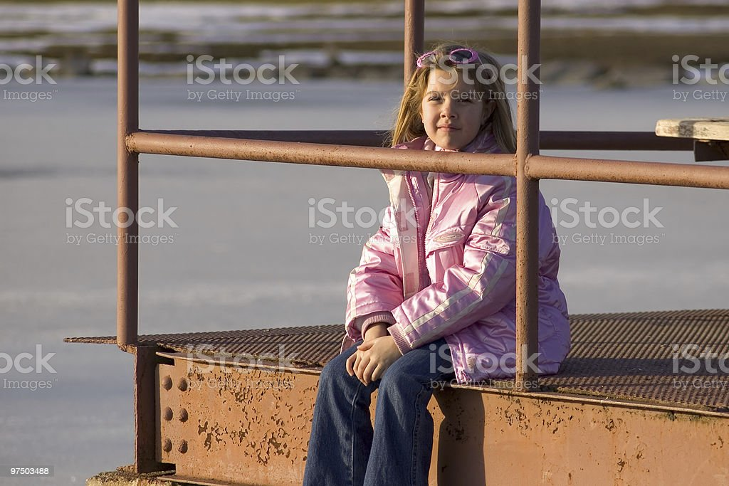 On the Dock royalty-free stock photo
