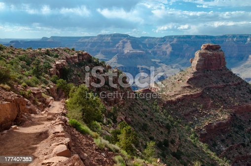 istock On the edge of hiking trail to the bottom of Grand Canyon 177407383