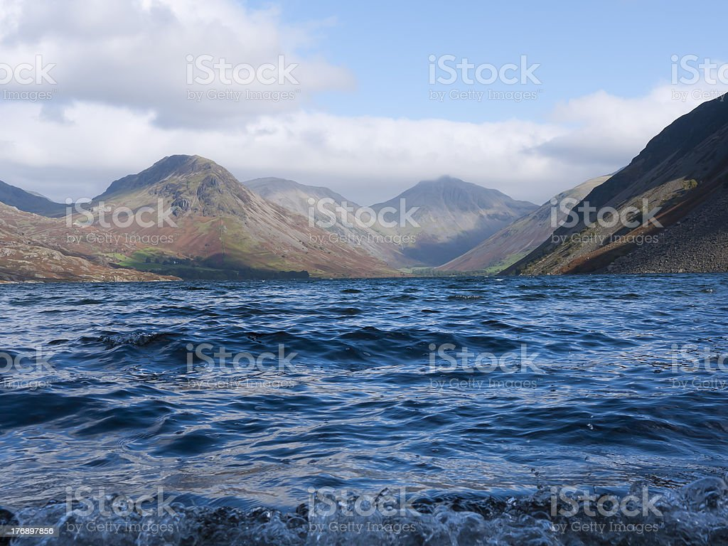 On the edge of Wast Water royalty-free stock photo