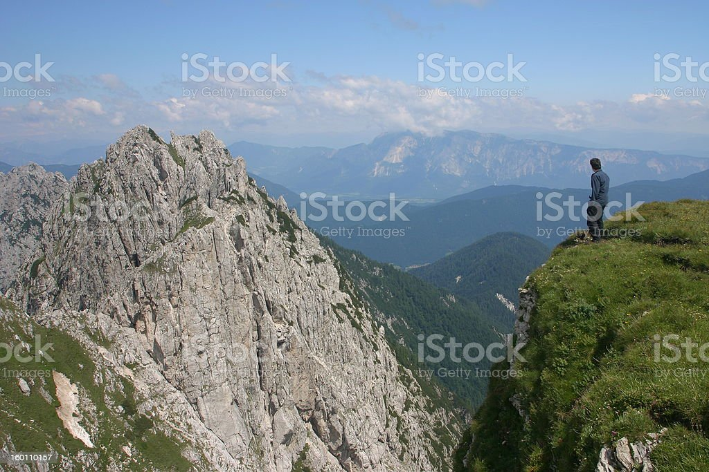 On the edge royalty-free stock photo