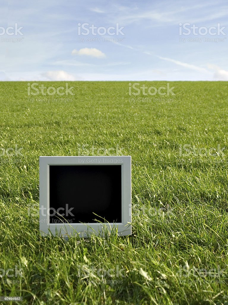 TFT on the field - add your own content royalty-free stock photo