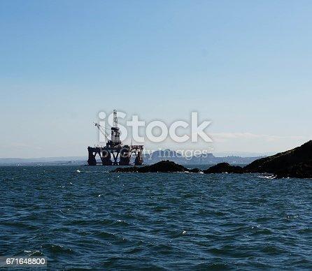 oil platform on the river Forth
