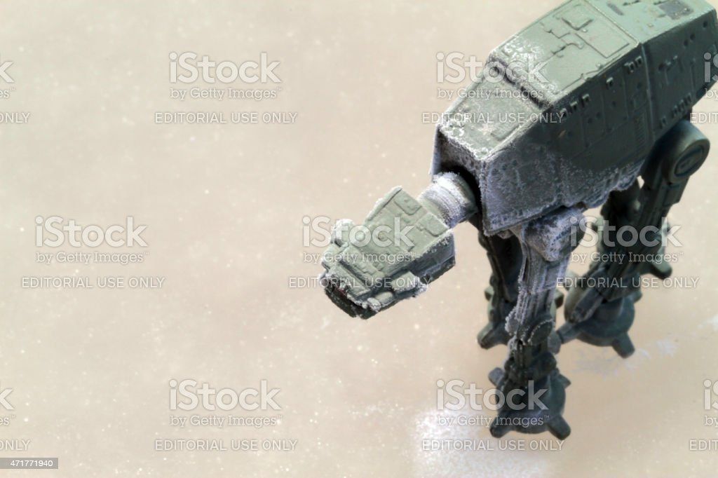 On the Frozen Surface of Hoth stock photo