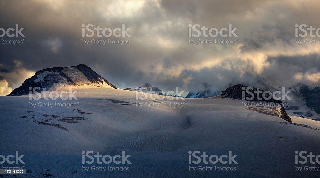 on the glacier stock photo
