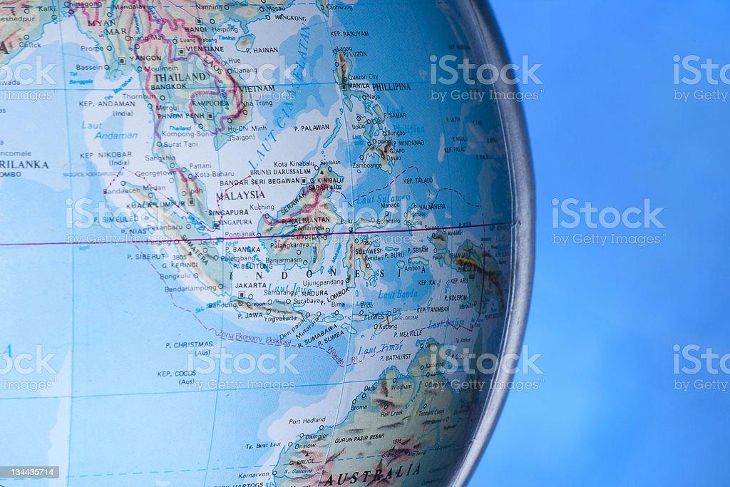 ASEAN on the globe stock photo