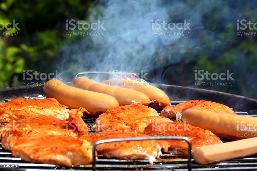 On The Grill royalty-free stock photo
