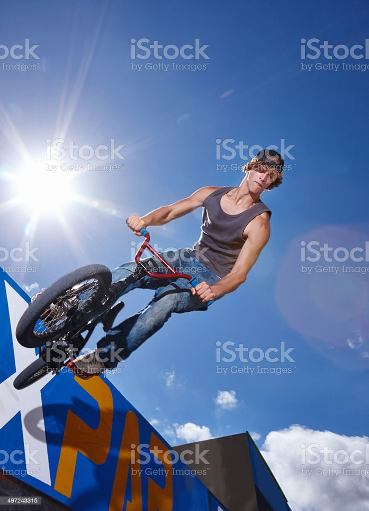 On the halfpipe stock photo