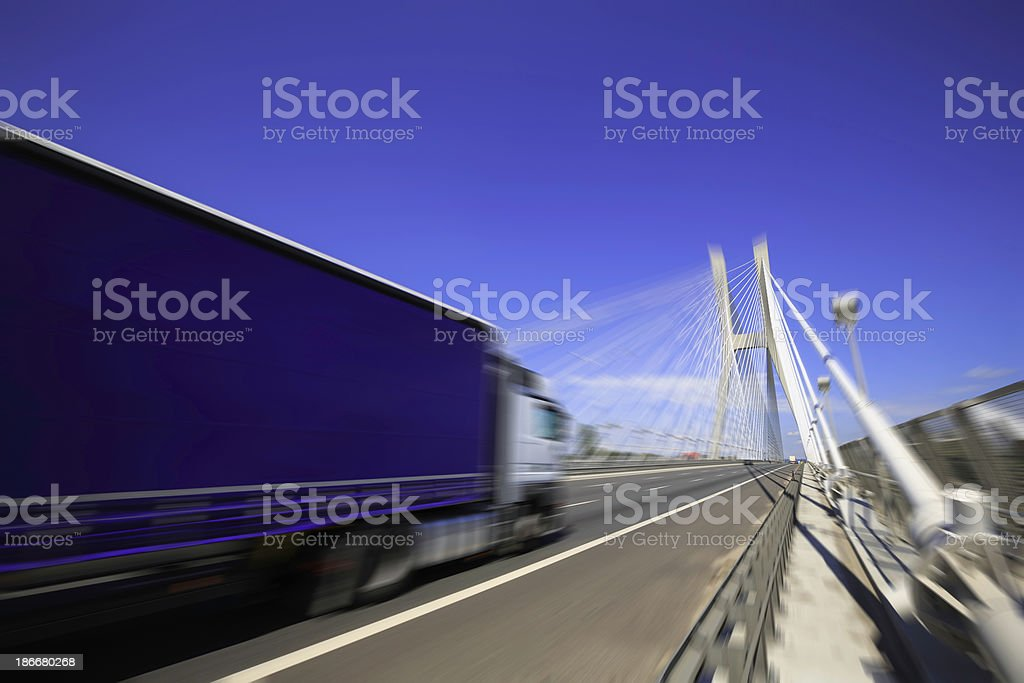 on the highway royalty-free stock photo