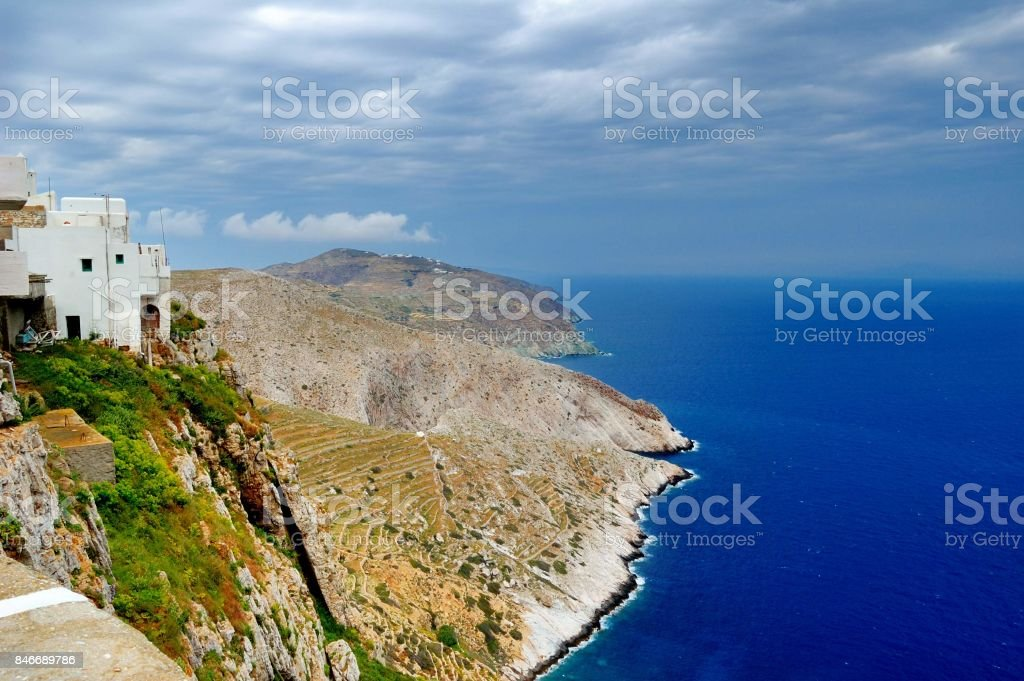 On the island of Folegandros, Greece, Cyclades stock photo