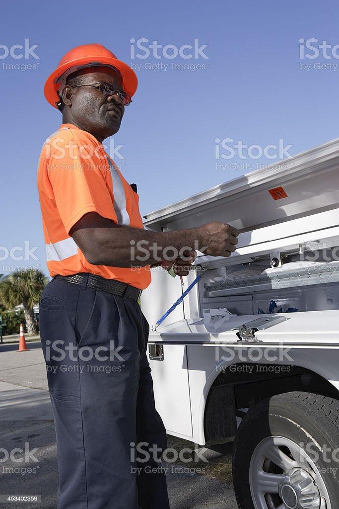 On the Job royalty-free stock photo