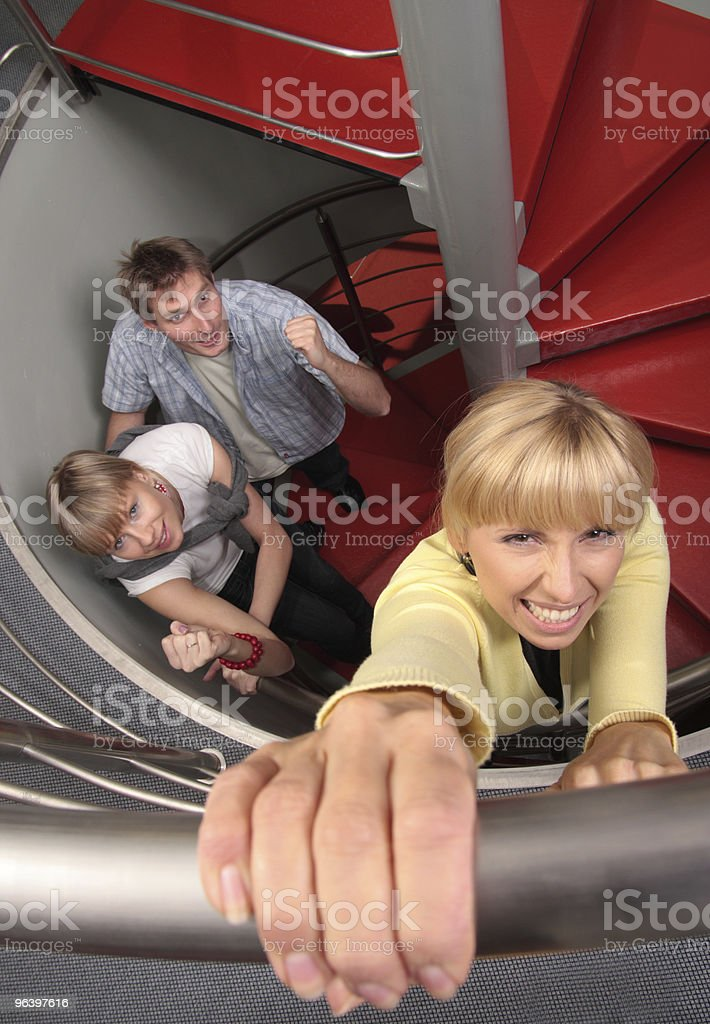 on the ladder of success royalty-free stock photo