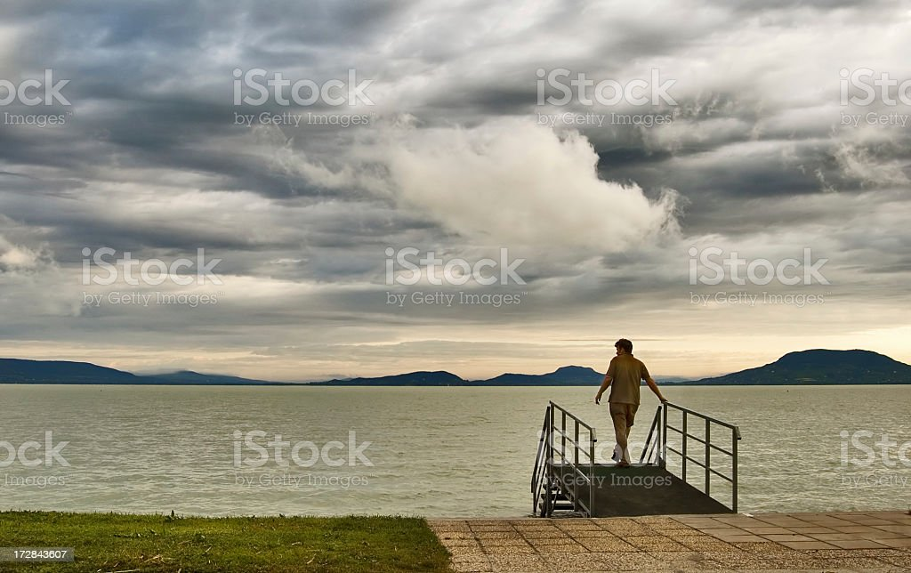 On the lakeside royalty-free stock photo